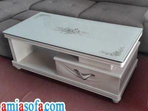 Hình ảnh mẫu bàn sofa đẹp mầu trắng sang trọng