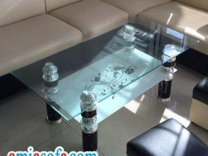 Mẫu bàn sofa kính đẹp giá rẻ tại AmiA Hà Nội