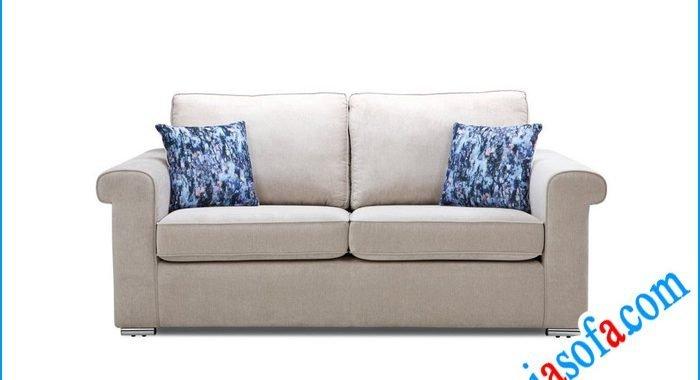 Hình ảnh mẫu sofa văng nỉ đẹp mầu ghi sáng