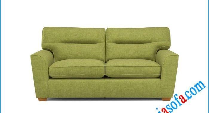 Mẫu sofa văng nỉ đẹp cỡ nhỏ mini mầu xanh cốm