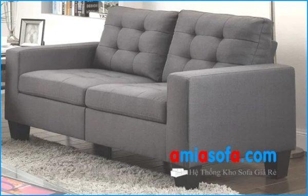 Hình ảnh bộ ghê sofa văng nỉ đẹp cỡ nhỏ