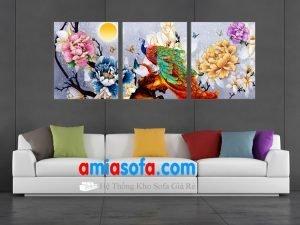 Hình ảnh mẫu tranh treo tường ghép bộ 3 tấm AmiA 1017