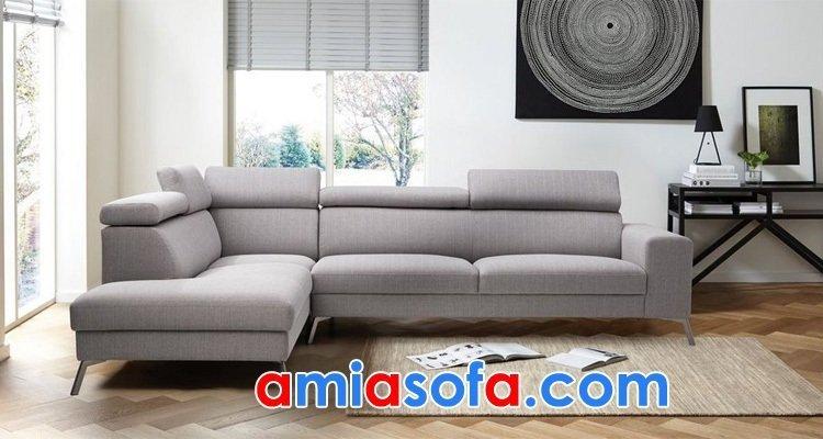 Ghế sofa nỉ dạng góc chữ L đẹp cho phòng khách hiện đại