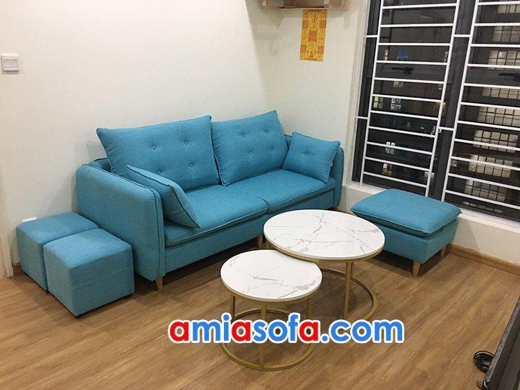 Ghế sofa nỉ SFN 225 kiểu dáng văng gọn nhẹ