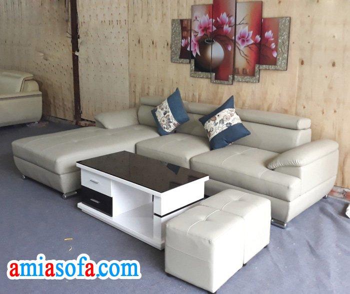 Mẫu sofa da đẹp giá rẻ kê phòng khách