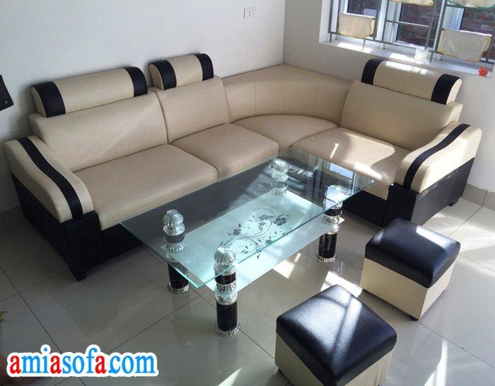 Bộ ghế sofa góc phòng khách nhỏ mini, giá rẻ chỉ hơn 2 triệu, bán tại AmiA Hà Nội
