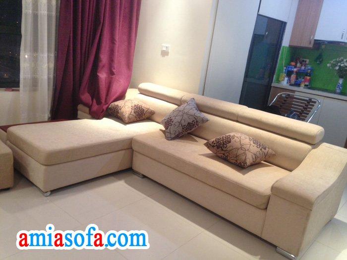 Hình ảnh mẫu sopha nỉ đẹp giá rẻ dang bán tại Kho nội thất AmiA Hà Nội