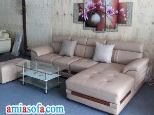 Kho nội thất AmiA Hà Nội có bán sofa da đẹp kê phòng khách hiện đại