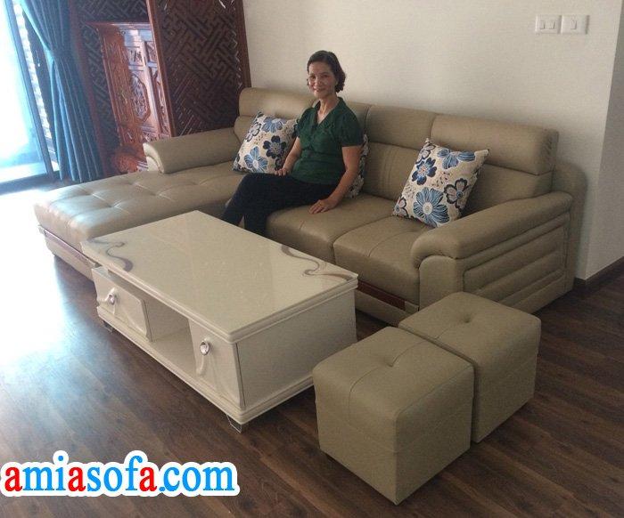 Hình ảnh sofa phòng khách đẹp nhà chung cu