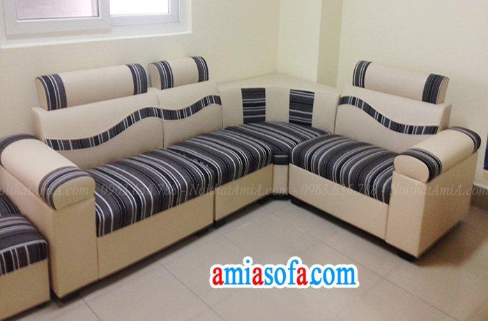Mẫu sofa đẹp giá rẻ da pha nỉ
