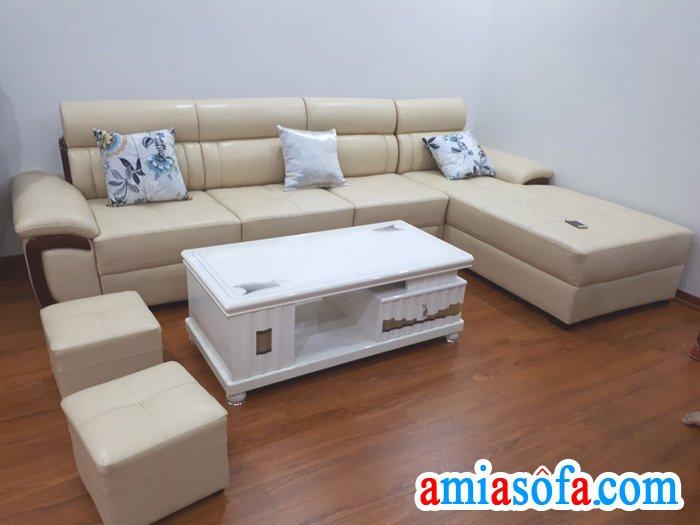 Đây là một trong những mẫu sofa da đẹp bán chạy tại AMiA