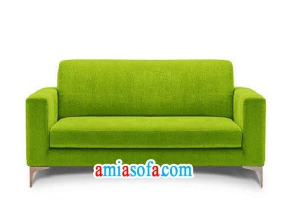 Mẫu sofa văng nỉ đẹp 2 chỗ ngồi mầu xanh cốm