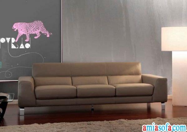 Mẫu ghế sofa văng đẹp ba chỗ ngồi. Chất liệu da công nghiệp nhập khẩu.