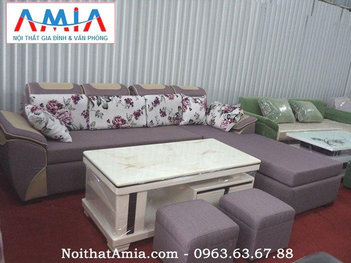 Hình ảnh mẫu sofa nỉ tại kho AmiA