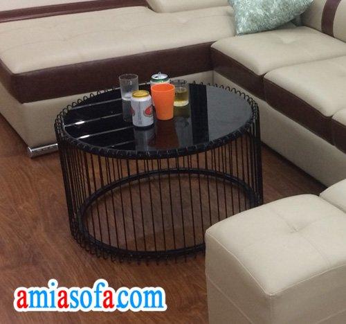 Kiểu bàn sofa đẹp hình tròn nghệ thuật