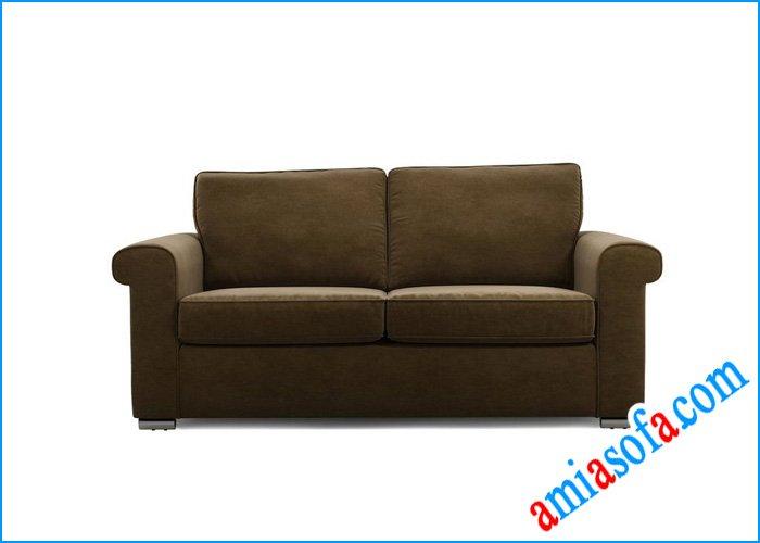 Sofa văng nỉ đẹp mầu nâu