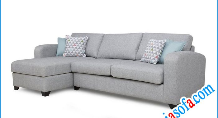 Mẫu sofa nỉ đẹp dạng góc chữ L