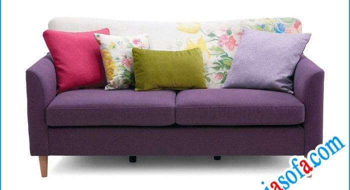 Mẫu sofa nỉ đẹp mầu tím