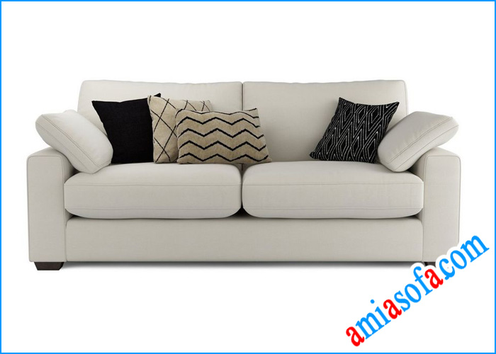 Hình ảnh mấu sofa văng nỉ đẹp mầu kem