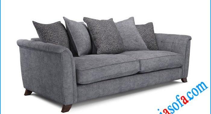 Hình ảnh mẫu sofa văng nỉ mầu ghi xám