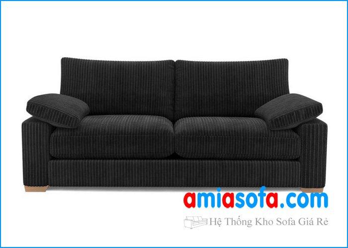 Hình ảnh mẫu ghế sofa văng nỉ nhỏ mini mầu đen