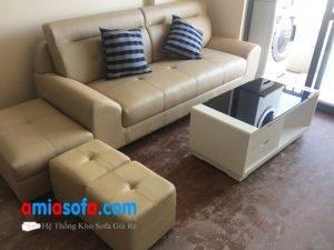 Hình ảnh mẫu ghế sofa văng đẹp 3 chỗ ngồi kê phòng khách nhỏ
