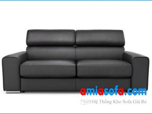 Hình ảnh mẫu ghế sofa văng SFV 1607C có da mầu đen
