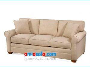 Hình ảnh bộ ghế sofa văng nỉ đẹp 3 chỗ ngồi xinh
