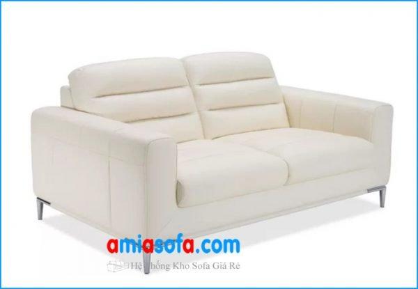 Hình ảnh bộ ghế sofa văng nỉ mầu kem sáng đẹp