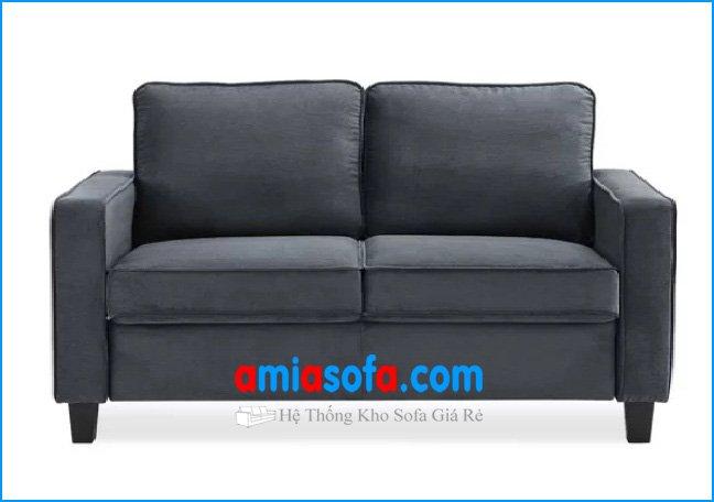 Hình ảnh mẫu ghế sofa văng nỉ đẹp giá rẻ, kích cỡ nhỏ mini 2 chỗ ngồi