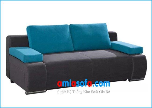 Hình ảnh mẫu ghế sofa văng nỉ với kiểu phối mầu lạ mắt và trẻ trung