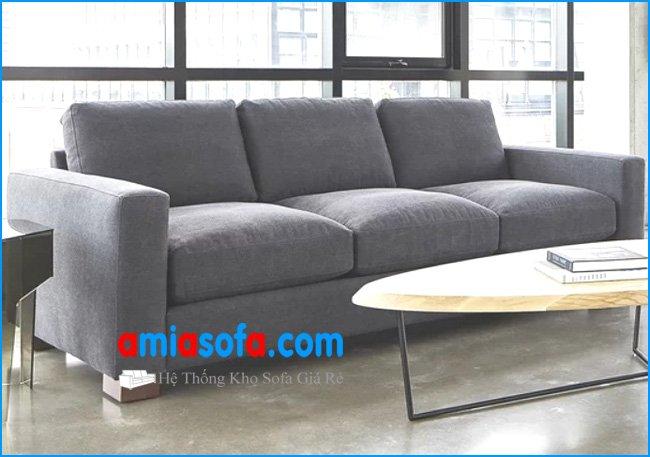 Mẫu sofa văng nỉ đẹp kê phòng khách sang trọng