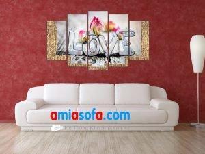 Hình ảnh mẫu tranh treo tường đẹp với chữ LOVE