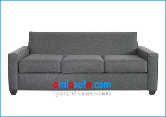 Mẫu ghế sofa nhỏ dạng văng 3 chỗ ngồi chất liệu nỉ mầu ghi