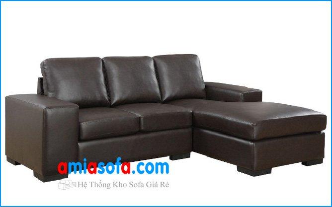 Hình ảnh mấu ghế sofa góc đẹp chất liệu da mầu đen sang trọng