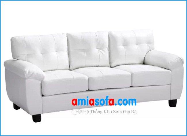 Mẫu sofa văng da đẹp mầu sáng