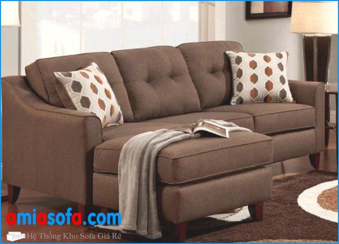 Sofa phòng khách đẹp kiểu góc chữ L