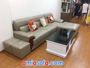 ghế sofa da đẹp SFD 224 cho phòng khách chung cư