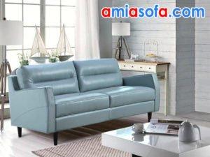 sofa da SFD 228 màu xanh lơ trẻ trung