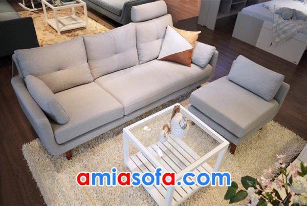 Mẫu ghế sofa văng chất nỉ đẹp cho phòng khách hiện đại và trẻ trung