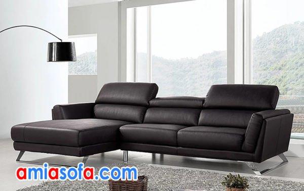 sofa da góc chữ L thiết kế thông minh SFD 254
