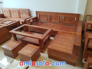 Sofa gỗ góc chữ L đẹp giá rẻ