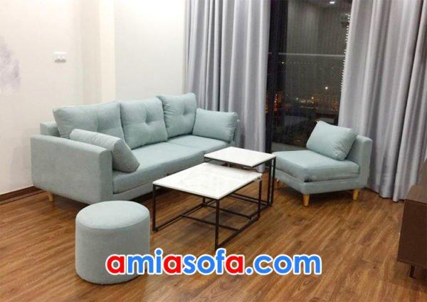 Sofa nỉ văng đẹp cho phòng khách chung cư hiện đại