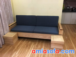 Ghế sofa văng gỗ mini cho phòng khách nhỏ hiện đại