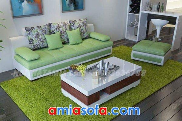 Sofa văng nỉ thiết kế hiện đại