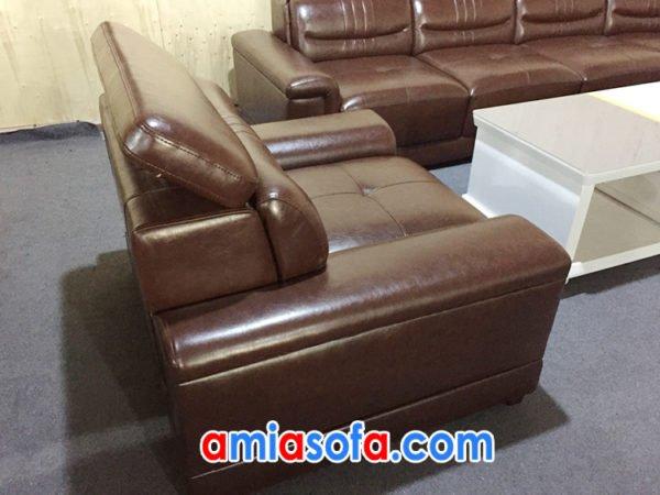 Ghế chủ của bộ sofa da cao cấp SFD 186