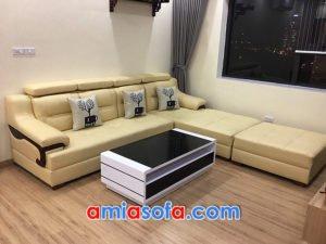 Sofa da dạng góc chữ L đẹp