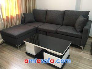 Mẫu sofa nỉ đẹp cho phòng khách hiện đại