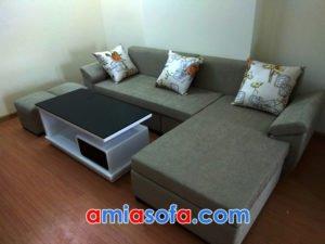 Sofa nỉ góc đẹp cho nhà chung cư hiện đạ