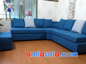 Sofa nỉ góc chữ L đẹp cho chung cư